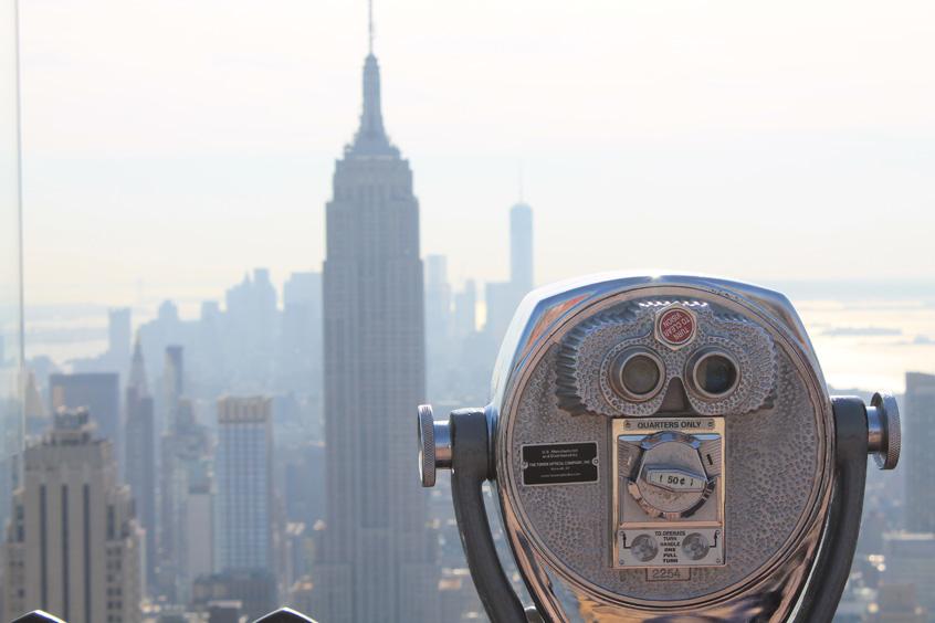 vue sur l'Empire State depuis le Rockfeller Center