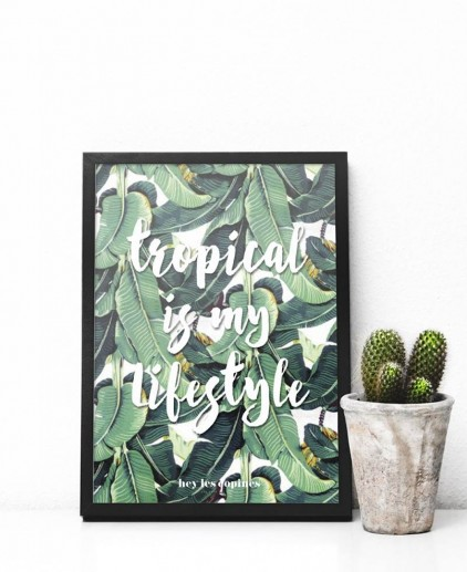 Poster A4 tropical