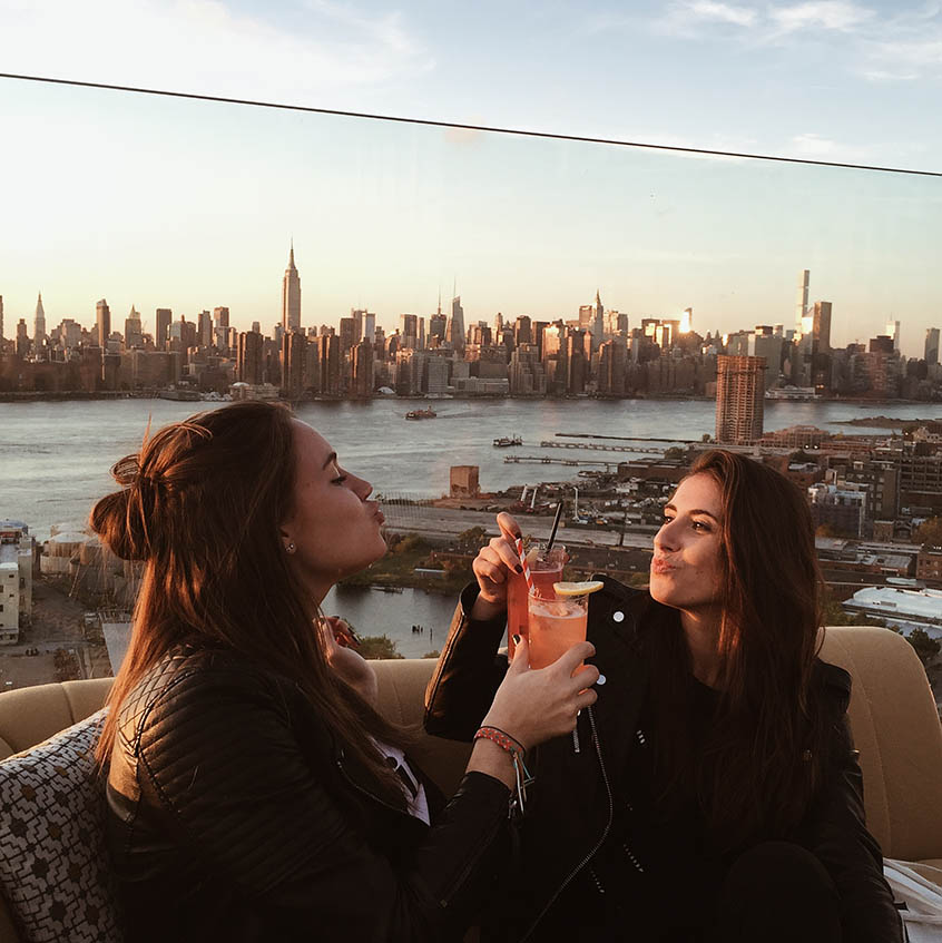 New York entre copines The William Vale rooftop