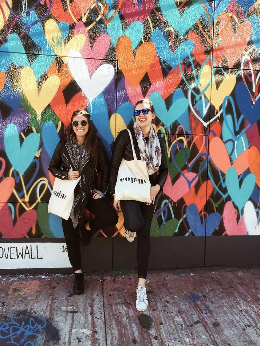 Deux jours à New York copines Love wall