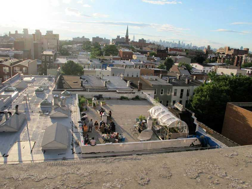 Rooftop à Brooklyn - juin