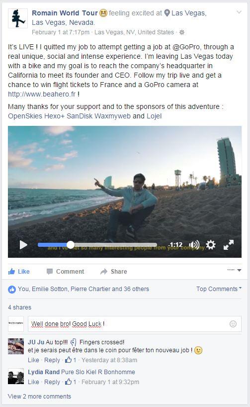Romain Corraze post facebook