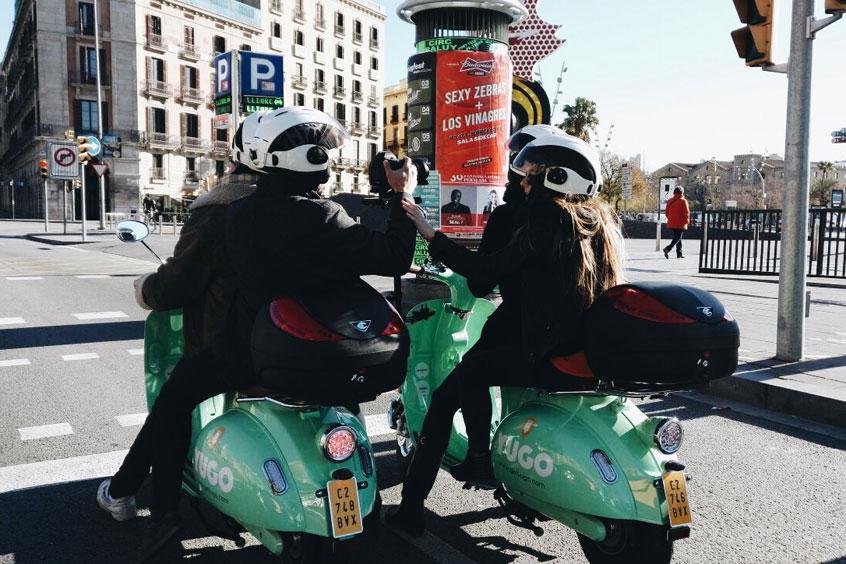 vidéo des copines à Barcelone Yugo