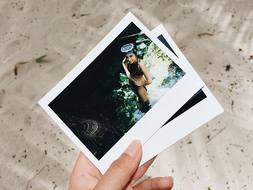 cenote cristalino polaroid