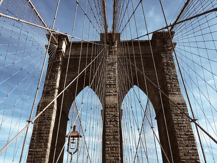 Brooklyn bridge copines new york